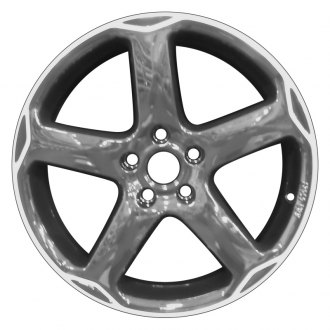 "Perfection Wheel® - 18"" Refinished 5 Spokes Black Machined Factory Alloy Wheel"