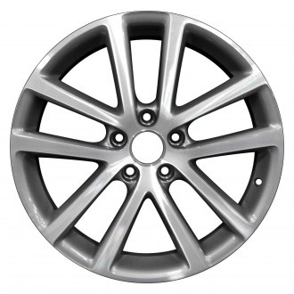 "Perfection Wheel® - 18"" Refinished 5 Double Spokes Light Charcoal Machined Factory Alloy Wheel"