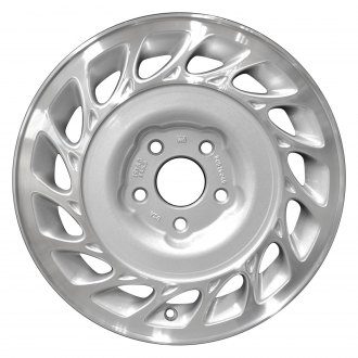 "Perfection Wheel® - 15"" Refinished 15 Slot Sparkle Silver Machined Factory Alloy Wheel"