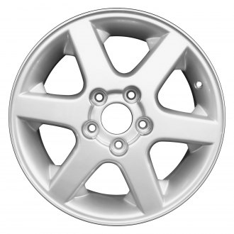 "Perfection Wheel® - 15"" Refinished 6 Spokes Bright Fine Metallic Silver Full Face Factory Alloy Wheel"