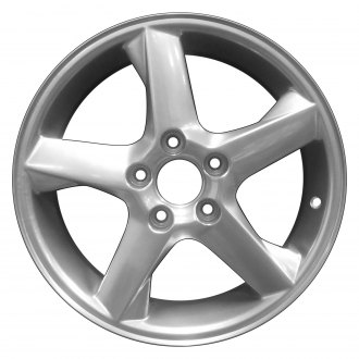 "Perfection Wheel® - 16"" Refinished 5 Spokes Hyper Bright Mirror Silver Full Face Factory Alloy Wheel"