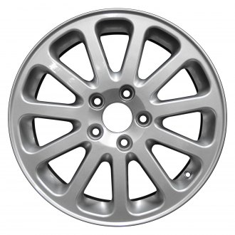 "Perfection Wheel® - 16"" Refinished 11 Slot Metallic Silver Full Face Factory Alloy Wheel"