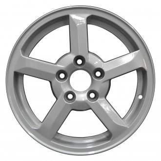 "Perfection Wheel® - 15"" Refinished 5 Spokes Fine Metallic Silver Full Face Factory Alloy Wheel"