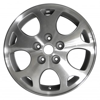 "Perfection Wheel® - 16"" Refinished 5 Y Spokes Medium Sparkle Silver Machined Factory Alloy Wheel"