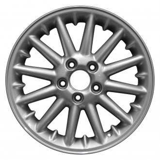 "Perfection Wheel® - 16"" Refinished 12 Spokes Bright Fine Metallic Silver Full Face Factory Alloy Wheel"