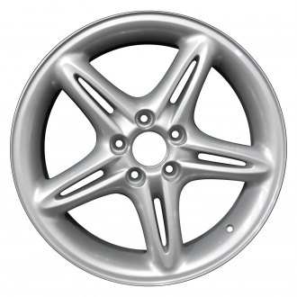 "Perfection Wheel® - 17"" Refinished 5 Split Spokes Bright Medium Silver Full Face Factory Alloy Wheel"
