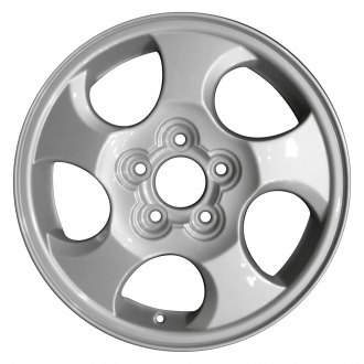 "Perfection Wheel® - 16"" Refinished 5 Spokes Medium Sparkle Silver Full Face Factory Alloy Wheel"