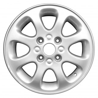 "Perfection Wheel® - 15"" Refinished 8 Slot Medium Silver Full Face Factory Alloy Wheel"