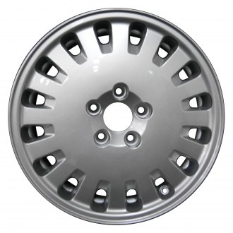 "Perfection Wheel® - 16"" Refinished 16 Slot Bright Metallic Silver Full Face Factory Alloy Wheel"