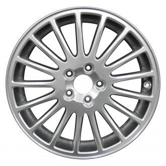 "Perfection Wheel® - 17"" Refinished 17 Spokes Hyper Bright Mirror Silver Full Face Factory Alloy Wheel"