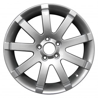 "Perfection Wheel® - 17"" Refinished 9 Spokes Bright Metallic Silver Full Face Factory Alloy Wheel"