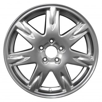 "Perfection Wheel® - 17"" Refinished 7 Spokes Hyper Bright Mirror Silver Full Face Factory Alloy Wheel"