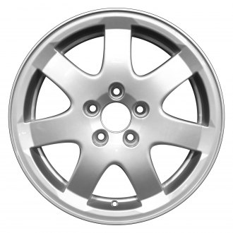 "Perfection Wheel® - 16"" Refinished 7 Spokes Metallic Silver Full Face Factory Alloy Wheel"