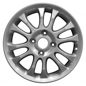 "Perfection Wheel® - 16"" Refinished 12 Spokes Metallic Silver Full Face Factory Alloy Wheel"