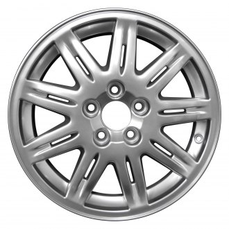 "Perfection Wheel® - 16"" Refinished 9 Double Spokes Hyper Bright Mirror Silver Full Face Factory Alloy Wheel"