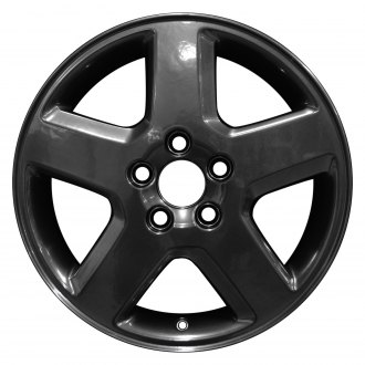 "Perfection Wheel® - 16"" Refinished 5 Spokes Hyper Dark Smoked Silver Full Face Factory Alloy Wheel"