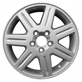 "Perfection Wheel® - 16"" Refinished 7 Spokes Medium Sparkle Silver Full Face Factory Alloy Wheel"