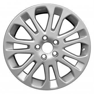 "Perfection Wheel® - 17"" Refinished 14 Spokes Bright Fine Metallic Silver Full Face Factory Alloy Wheel"