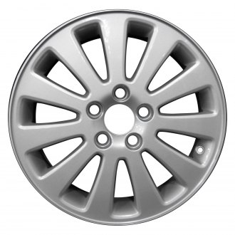 "Perfection Wheel® - 16"" Refinished 11 Spokes Bright Medium Sparkle Silver Full Face Factory Alloy Wheel"