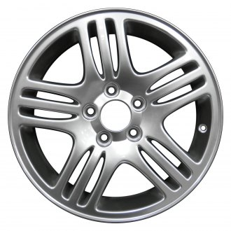 "Perfection Wheel® - 16"" Refinished 15 Spokes Hyper Bright Mirror Silver Full Face Factory Alloy Wheel"