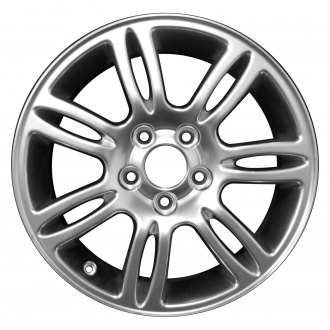 "Perfection Wheel® - 16"" Refinished 7 Split Spokes Hyper Bright Mirror Silver Full Face Factory Alloy Wheel"