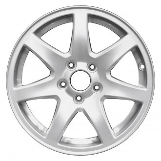 "Perfection Wheel® - 16"" Refinished 7 Spokes Sparkle Silver Full Face Factory Alloy Wheel"