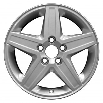 "Perfection Wheel® - 16"" Refinished 5 Spokes Sparkle Silver Full Face Factory Alloy Wheel"