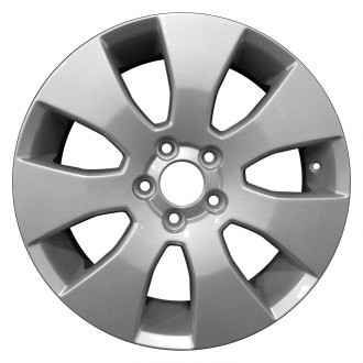 "Perfection Wheel® - 17"" Refinished 7 Spokes Sparkle Silver Full Face Factory Alloy Wheel"