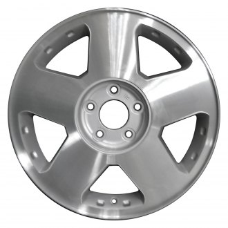 "Perfection Wheel® - 17"" Refinished 5 Spokes Medium Sparkle Silver Machined Factory Alloy Wheel"