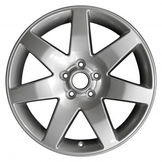 "Perfection Wheel® - 18"" Refinished 7 Spokes Hyper Bright Mirror Silver Full Face Factory Alloy Wheel"