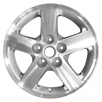 "Perfection Wheel® - 16"" Refinished 5 Spokes Medium Sparkle Silver Machined Factory Alloy Wheel"