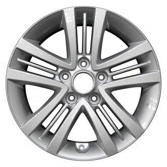2007 hyundai tiburon replacement factory wheels rims carid Hundai Tiburon perfection wheel 16x6 5 5 split spoke bright medium silver full face