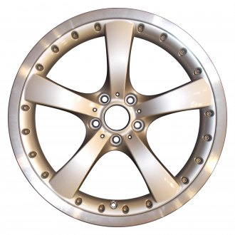 "Perfection Wheel® - 19"" Refinished 5 Spokes Bright Medium Silver Flange Cut Factory Alloy Wheel"