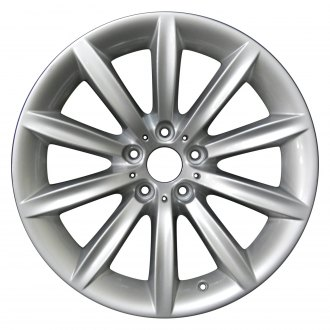 "Perfection Wheel® - 19"" Refinished 10 Spokes Bright Fine Metallic Silver Full Face Factory Alloy Wheel"