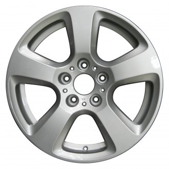 "Perfection Wheel® - 17"" Refinished 5 Spokes Bright Medium Silver Full Face Factory Alloy Wheel"