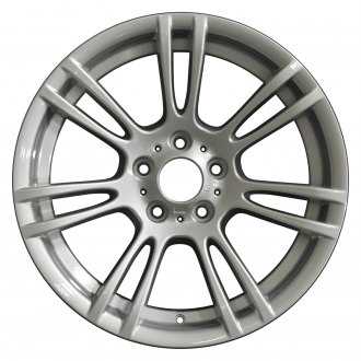 "Perfection Wheel® - 18"" Refinished 7 Double Spokes Bright Medium Silver Full Face Factory Alloy Wheel"