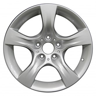 "Perfection Wheel® - 17"" Refinished 5 Spokes Medium Sparkle Silver Full Face Factory Alloy Wheel"