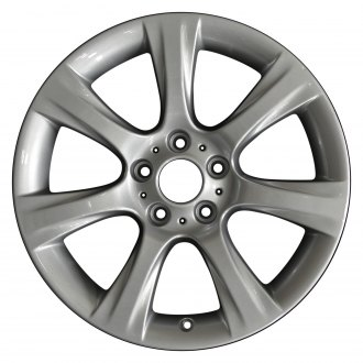 "Perfection Wheel® - 18"" Refinished 7 Spokes Medium Sparkle Silver Full Face Factory Alloy Wheel"