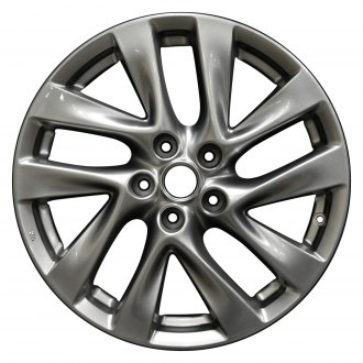 "Perfection Wheel® - 18"" Refinished 5 Double Spokes Hyper Medium Silver Full Face Factory Alloy Wheel"