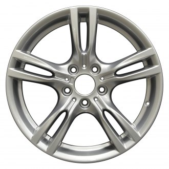 "Perfection Wheel® - 18"" Refinished 5 Double Spokes Hyper Bright Silver Full Face Factory Alloy Wheel"