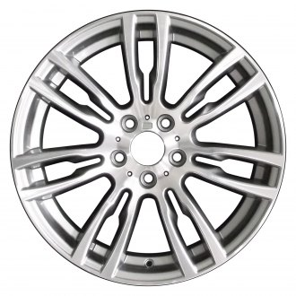 "Perfection Wheel® - 19"" Refinished 14 Spokes Medium Metallic Charcoal Machined Bright Factory Alloy Wheel"