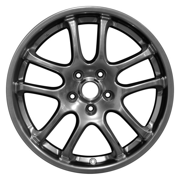 "Perfection Wheel® - 18"" Refinished 10 Spokes Hyper Bright Smoked Silver Full Face Factory Alloy Wheel"