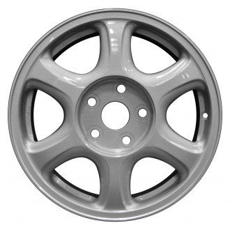 "Perfection Wheel® - 16"" Refinished 6 Spokes Bright Medium Silver Machine Before Painting Factory Alloy Wheel"