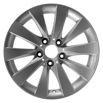 "Perfection Wheel® - 17"" Refinished 5 V Spokes Bright Medium Silver Full Face Factory Alloy Wheel"