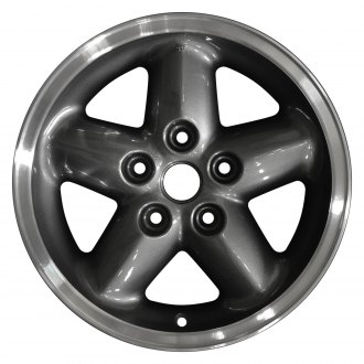 "Perfection Wheel® - 15"" 5-Spoke Dark Argent Charcoal Flange Cut Texture Factory Alloy Wheel (Refinished)"