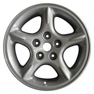 "Perfection Wheel® - 16"" 5-Spoke Sparkle Silver Full Face Factory Alloy Wheel (Refinished)"