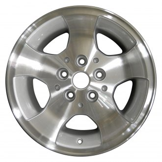 "Perfection Wheel® - 15"" 5-Spoke Sparkle Silver Machined Factory Alloy Wheel (Refinished)"