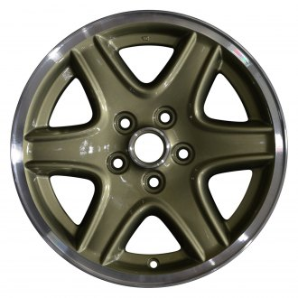 "Perfection Wheel® - 16"" Refinished 6 Spokes Bright Cactus Green Flange Cut Factory Alloy Wheel"