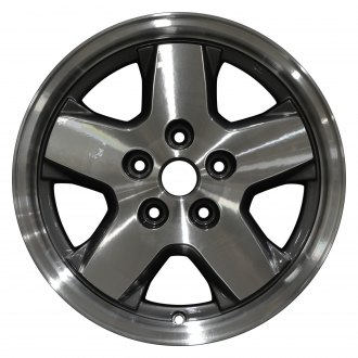 "Perfection Wheel® - 16"" Refinished 5 Spokes Metallic Charcoal Machined Factory Alloy Wheel"