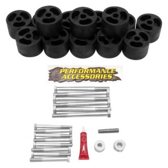 "Performance Accessories® - 2"" x 2"" Front and Rear Body Lift Kit"